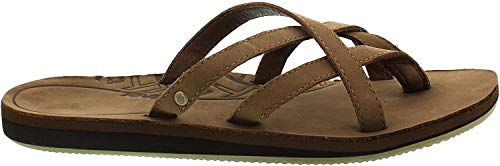 Teva Olowahu Leather W's Damen Sport- & Outdoor Sandalen, Braun (bison 561), EU 40