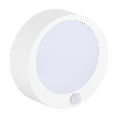 YIHEXUANkeji Luz de Sensor de Movimiento de 9 LED, luz Nocturna con Pilas, luz de Sensor Interior inalámbrica, para gabinete, Armario, pasillos, talleres, escaleras, entradas(Blanco cálido)