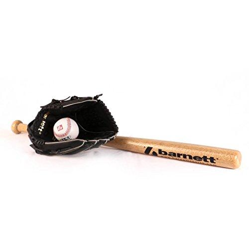 BGBW-03 Baseball Set Einsteiger Youth Holz 3Stk - Baseballschläger, Baseballhandschuh, Ball