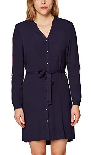 ESPRIT Damen 128EE1E016 Kleid, Blau (Navy 400), (Herstellergröße:38)