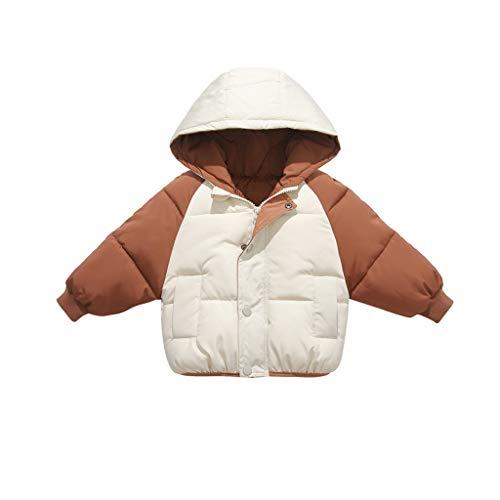 DIASTR Unisex Baby Overall für 3-8 Jahre Junge Mädchen Strampler Jumpsuit Daunenmantel Kinder Daunenjacke mit Kapuze Winter Mäntel Jungen Madchen Schneeanzüge Outfits