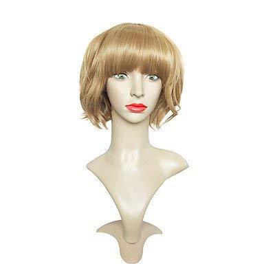 Js-Perücken Synthetische Perücke Wellig Bob Haarschnitt Synthetisches Haar Braune Perücke Damen Short Party Perücke Capless
