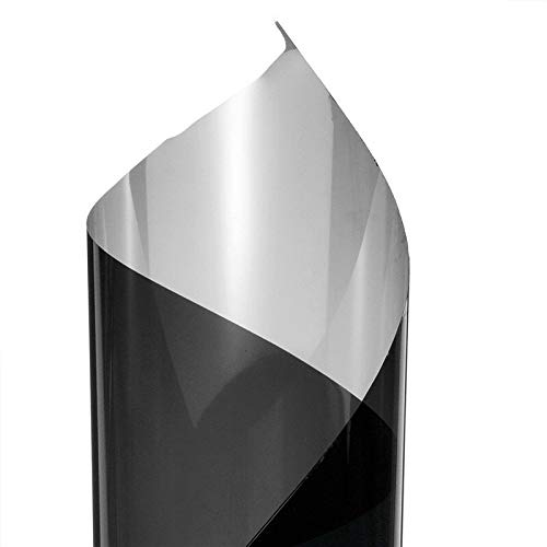 Electrical Equipment - Lámina adhesiva para ventana (100 x 50 cm, efecto espejo, reflectante, para privacidad, parte trasera adhesiva), color negro