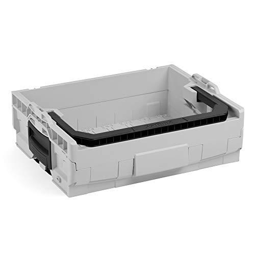 Bosch Sortimo LT-BOXX 136 in grau   Werkzeugkoffer leer  Werkzeugkasten leer Kunststoff   Idealer Werkzeugkoffer offen