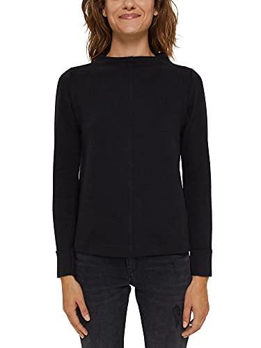 ESPRIT Sweatshirt mit Stehkragen, Bio-Baumwoll-Mix