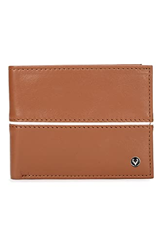ALLEN SOLLY Bi Fold Closure Leather - Goat Nappa Mens Casual Wallet (S21ASWRGBF40052001, TAN, Free Size)
