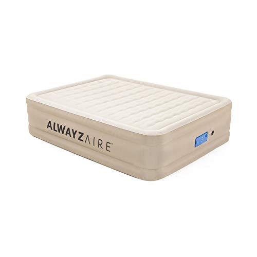 Bestway AlwayzAire Doppelbett 203x152x51 cm, Luftbett selbstaufblasend mit eingebauter Elektropumpe