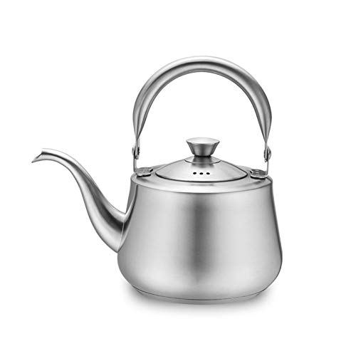 Surgical Brushed Kettle, Food Grade Stainless Steel Teapot with Syringe and Anti-Scald Handle for Stove