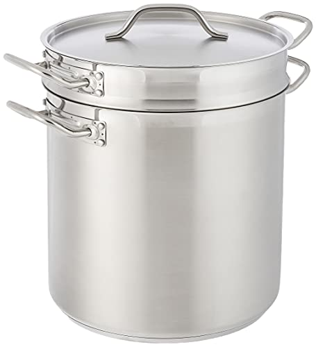 Winware - Stainless 20 Quart Double Boiler with Cover