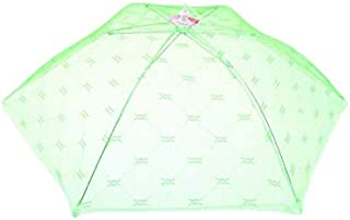 Green screen food covers tent - a set of umbrella screens to keep insects and flies away from food at picnics and barbecues