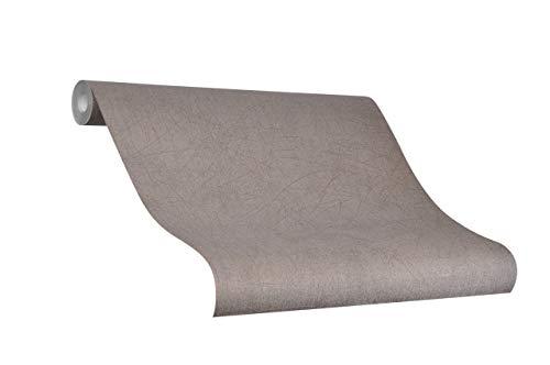 Tapete Braun Uni - Ideal für Wohnzimmer - Colani Visions - Made in Germany - 10,05m X 0,70m - 53301