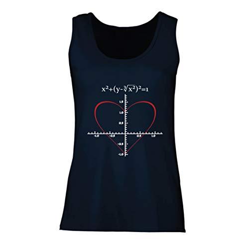 lepni.me Camisetas sin Mangas para Mujer Fórmula de Matemáticas del Amor Ecuación matemática Regalo para el Profesor
