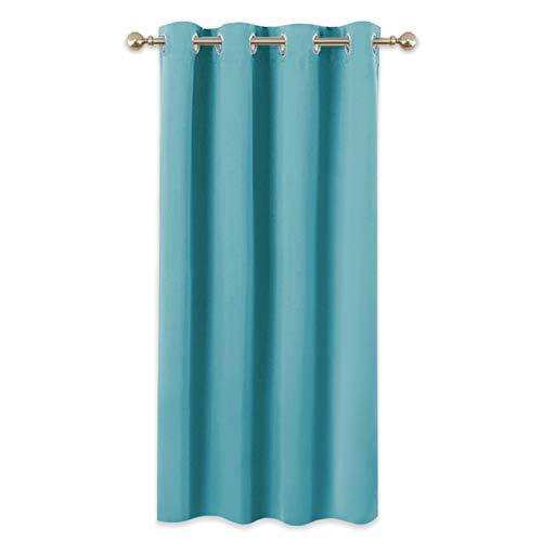 PONY DANCE Cortinas Modernas Dormitorio - Térmicas Aislantes Frío Calor Ruido Luz Rayos para Salón Oficina Dormitorio, 1 Panel, 132 x 158 cm, Azul Turquesa