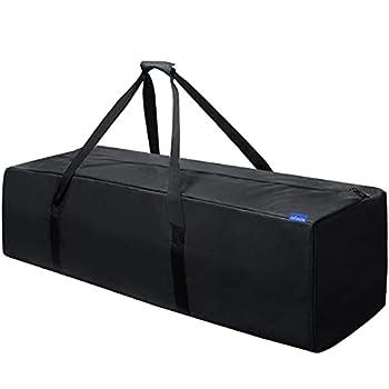 INFANZIA 45 Inch Zipper Duffel Travel Sports Equipment Bag Water Resistant Oversize Black