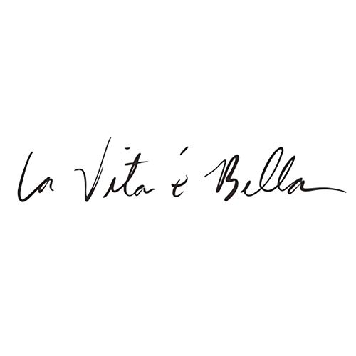Ruikey'la vita è bella' frase italiana etiqueta de la pared Vinilo decorativo pegatina pared Fashion Design DIY Wall Decoration House Decoration Babyroom Decoration 55x11cm(Negro)