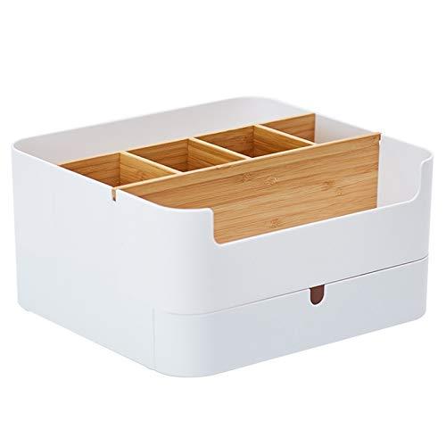 Heritan Caja de almacenamiento multifuncional tipo cajón escritorio cosmético almacenamiento caja de exhibición guantera baño titular accesorios