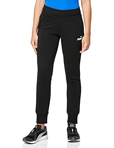 PUMA ESS Sweat TR cl Pants, Mujer, Negro (Cotton Black/Cat), L