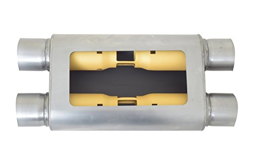 Gibson Performance Exhaust BM0107 MWA 2.50 Stainless Center//Center Oval Muffler