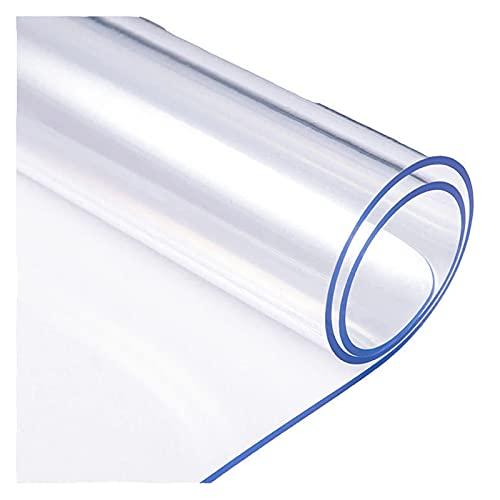 ALGXYQ Alfombrilla Transparente para Silla de Oficina Alfombras Impermeables Alfombras Alfombra Puerta PVC Vidrio Suave Resistente Al Rayado (Color : 2.0mm, Size : 90x120cm)