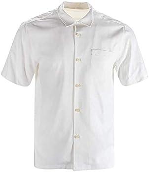 Havana Breeze Men's 100% Silk Relaxed-Fit Camp Shirt