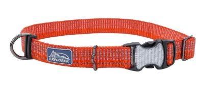 K9 Explorer Brights Reflective Adjustable Dog Collar - Canyon - Small/Medium