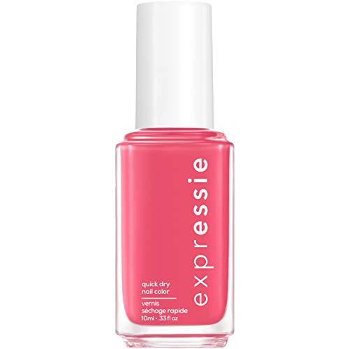 essie expressie Quick-Dry Vegan Nail Polish, Pink 020 Crave The Chaos, 0.33 Ounces