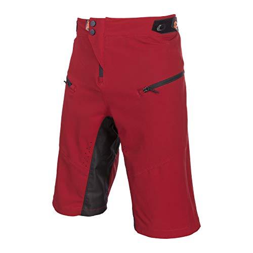 O'Neal | Pantaloncini da Mountainbike | MTB Mountainbike Downhill Freeride | Traspirante, Prese d'Aria a Taglio Laser, Taglio Attivo | Pantaloncini Pin It | Adulto | Rosso Arancione | Taglia 38/54