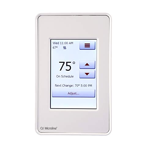 Radiant Electric Floor Heating Touch Screen Programmable Thermostat with GFCI, Includes Floor Sensor Model # UDG4-4999 by OJ Microline