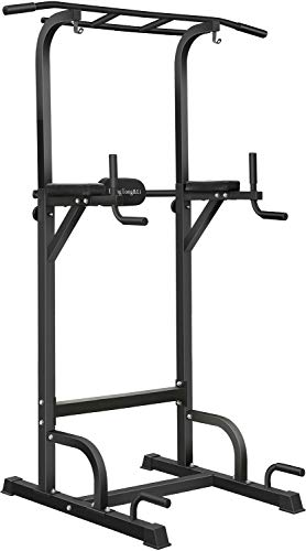BangTong&Li Power Tower Workout Pull Up & Dip Station Adjustable Multi-Function Home Gym Fitness Equipment (steady)