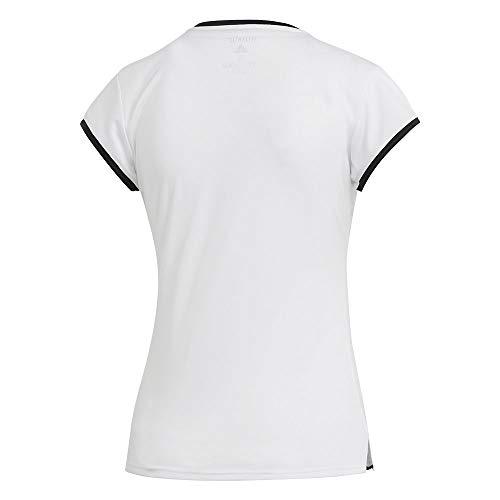 adidas Club 3 Str tee Camiseta de Tenis, Mujer, Blanco, L
