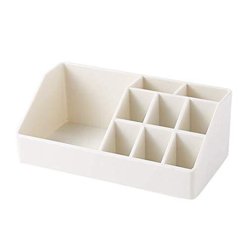 ZTMN Boîte de Rangement cosmétique en Plastique de Table Rouge à lèvres Produits de Soins de la Peau Brosse de Maquillage boîte de Finition 17 * 8.8 * 6.3 cm (Couleur: Blanc)