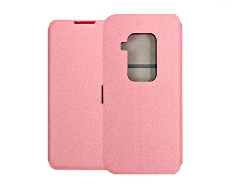 etuo Hülle für Motorola One Zoom - Hülle Wallet Book - Rosa Handyhülle Schutzhülle Etui Hülle Cover Tasche für Handy