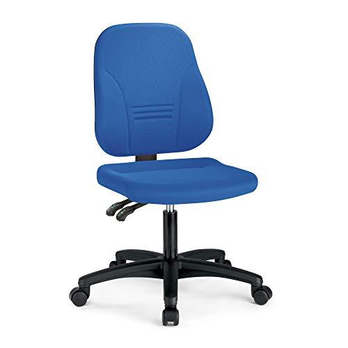 prosedia® Younico Plus 3 – Top Bürostuhl/Schreibtischstuhl – sehr ergonomisch - Made in Germany - TÜV Rheinland geprüft und Zertifiziert (Ohne Armlehnen, Blau)