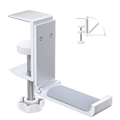 Desktop Headphones Headset Holder Mount Hook Stand, Foldable Under Desk Earphone Holder with Adjustable Clamp, PS4 PC Gaming Headphone Hanger
