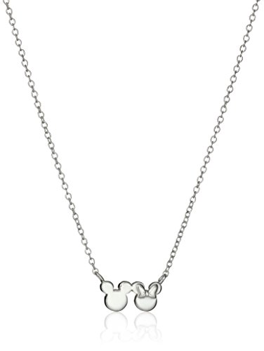 Disney Minnie and Mickey Mouse Silhouette Pendant Necklace, 16'+2' Ex