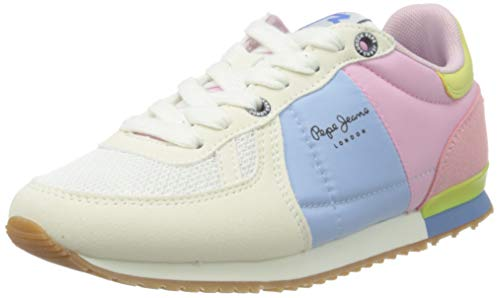 Pepe Jeans Sydney Basic Girl SS21, Zapatillas, 801factory White, 38 EU
