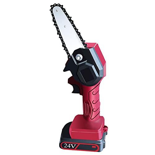 Motosierra de mano 24V eléctrica inalámbrica sierra recargable batería recargable herramienta de poda