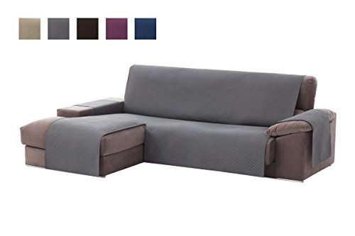 Textilhome - Funda Cubre Sofá Chaise Longue Adele, Protecto