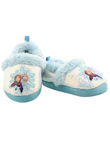 Disney Frozen 2 Girls Light Up Slippers Elsa Anna Kids Fleece Lined Flashing Lights House Shoes