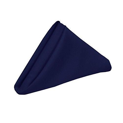 ARlinen Hanky 100% Pure Cotton Pack of 20 (18 x 18 inch) handkerchiefs - Navy Blue