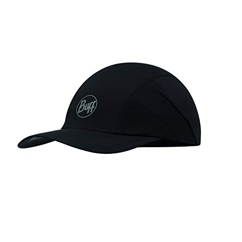 Buff Erwachsene Pro Run Cap, R-Solid Black, One Size
