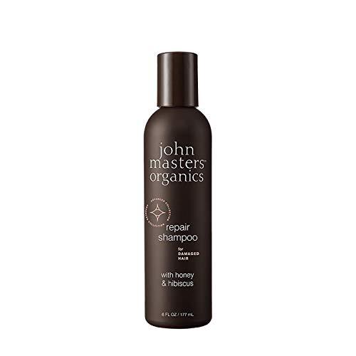JOHN MASTERS ORGANICS Shampoing Pour Cheveux Abîmés Au Miel Et À L'Hibiscus 250 g