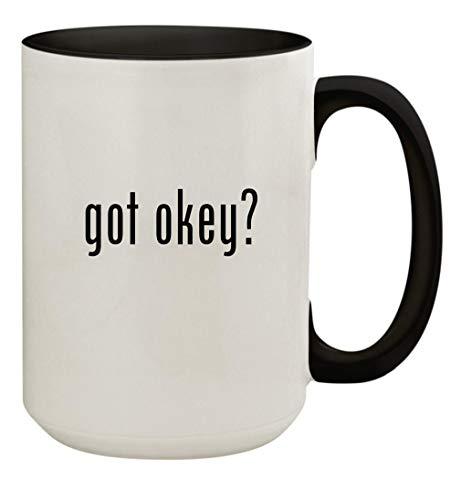 got okey? - 15oz Ceramic Colored Inside & Handle Coffee Mug Cup, Black