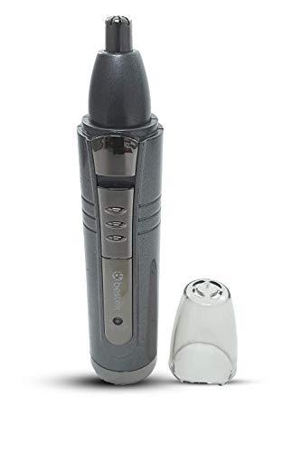Grooming - Cortapelos 3 en 1 recargable, afeitadora de barba eléctrica, afeitadora de pestañas, afeitadora de cejas, cortapelos de nariz con cuchilla giratoria de acero inoxidable impermeable