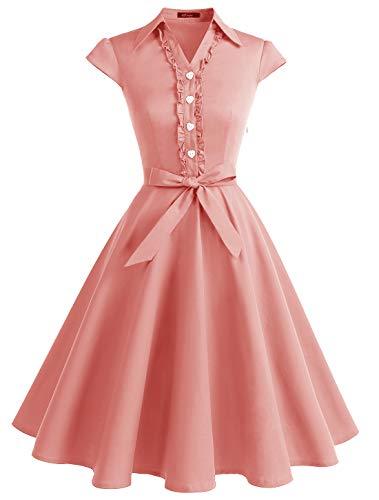 Wedtrend Vestido Vintage Escote V 1950s Cóctel Rockabilly