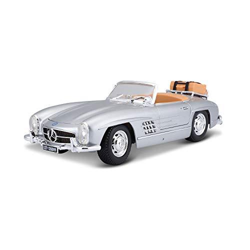 Bburago - 2043138 - Véhicule Miniature - Modèle À L'échelle - Mercedes Benz 300 Sl Touring 1957 - Argent - Echelle 1/18