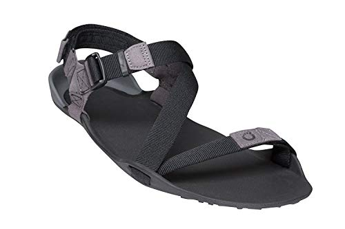 Xero Shoes Men's Z-Trek Sport Sandals - Zero Drop, Lightweight & Packable, Charcoal/Coal Black, 7
