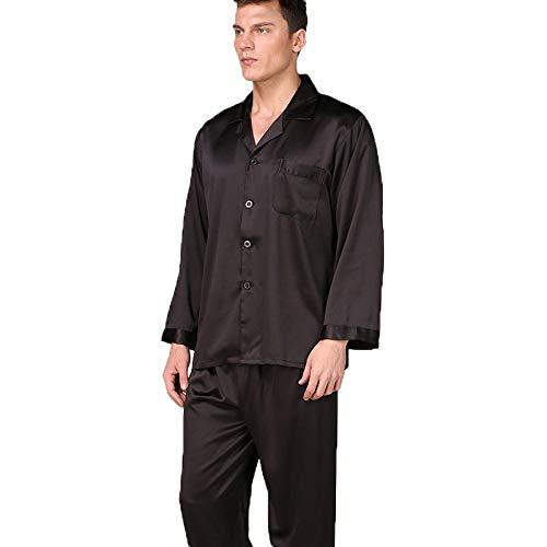 Badjas voor heren van Koreaanse zijde, eenkleurig, voor lente en herfst, vrije tijd, voor heren, zomer van zijde