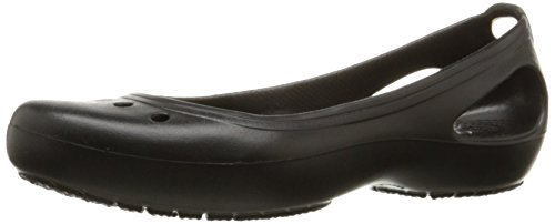 Crocs Women's Kadee Flat, Black/Black, 6 M US