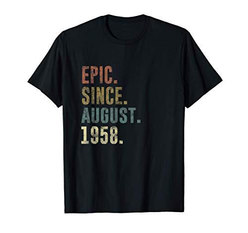 63rd Birthday Retro Vintage Epic Since August 1958 T-Shirt